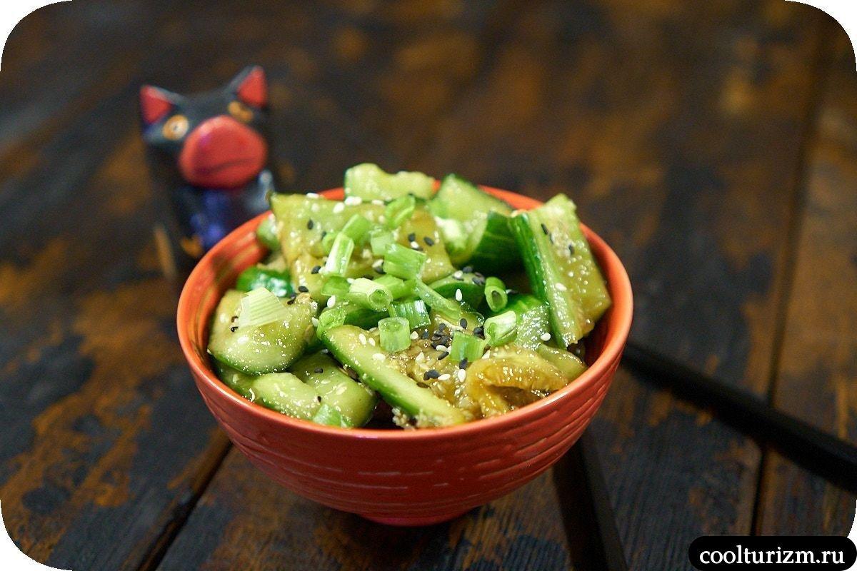 битые огурцы в японском стиле рецепт