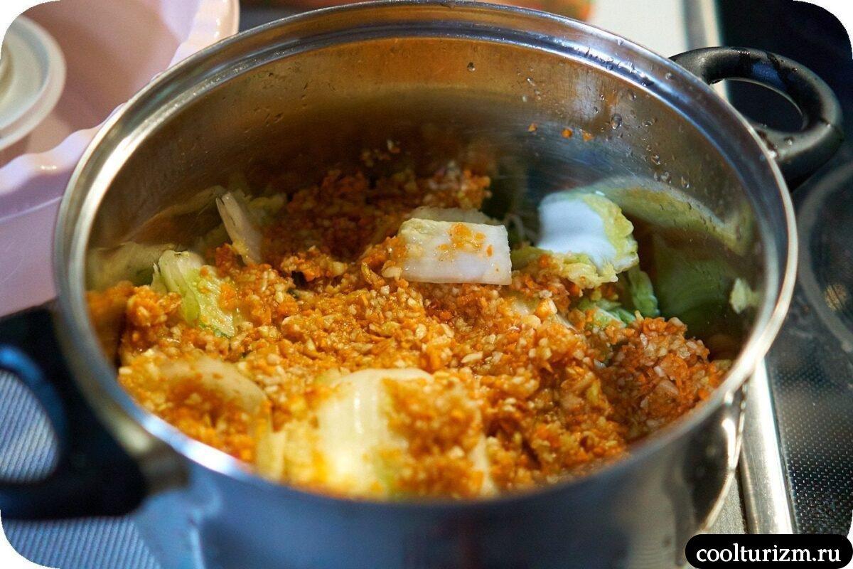 как приготовить кимчи из пекинской капусты фото