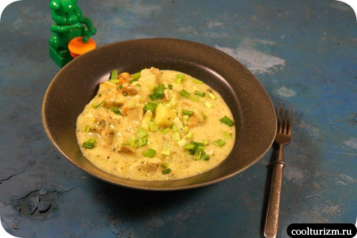 курица с картошкой в сметанном соусе фото