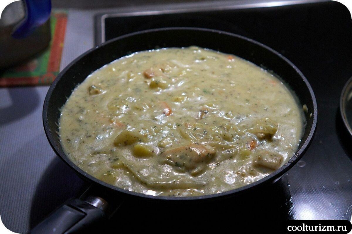 курица с картошкой в сметанном соусе пошагово
