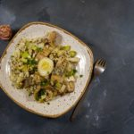 Оригинальный салат с соленой селедкой