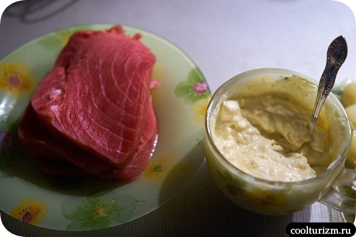как приготовить стейк из тунца в домашних условиях