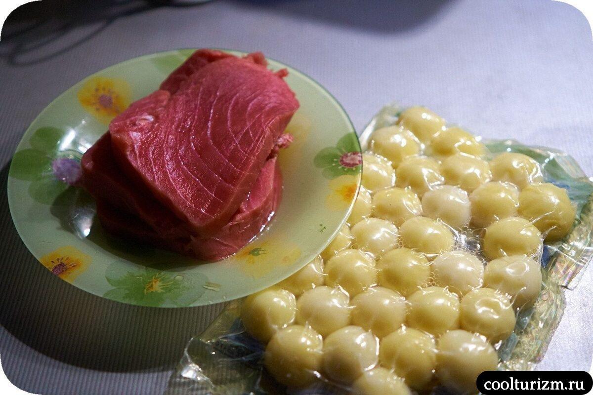 как приготовить стейк из тунца с картошкой