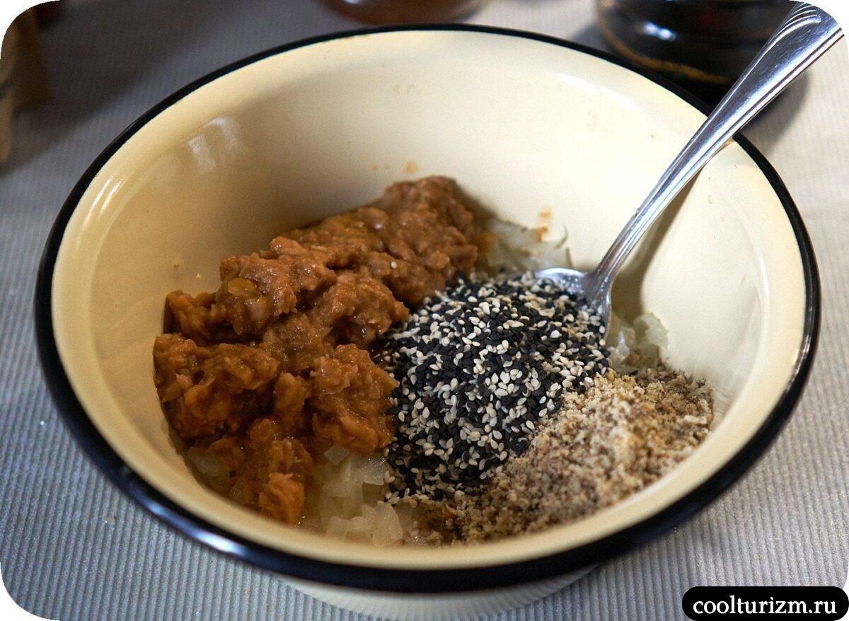японский салат с тунцом и картофелем с фото