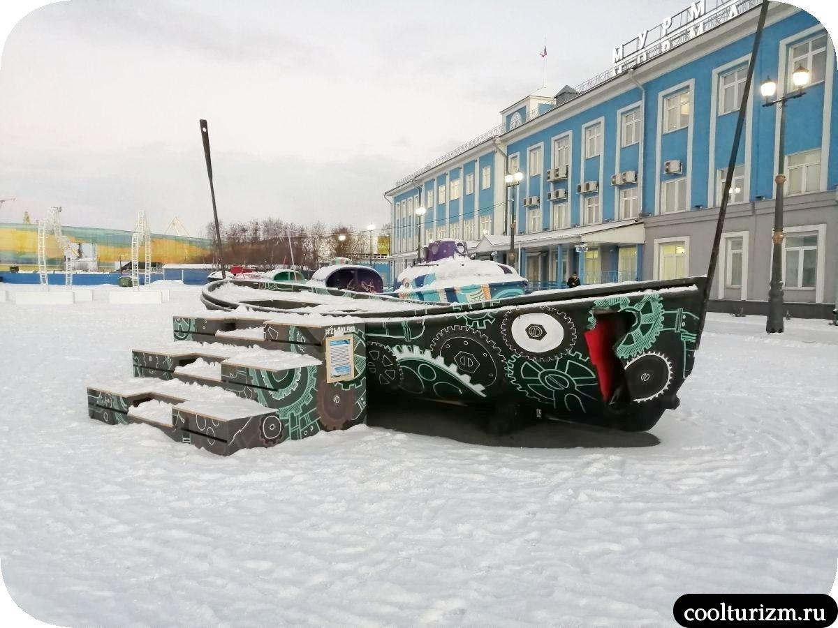 Морской вокзал Мурманск лодки
