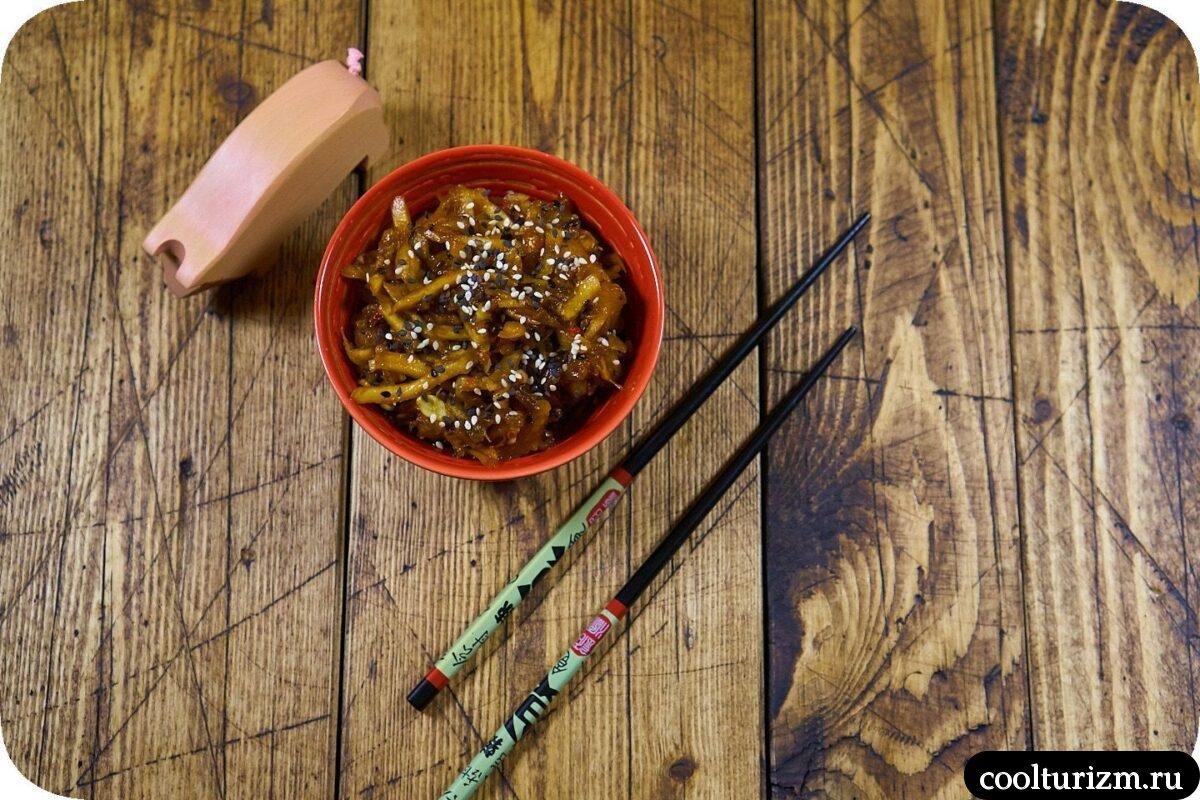 быстрая закуска из кабачков в корейском стиле рецепт