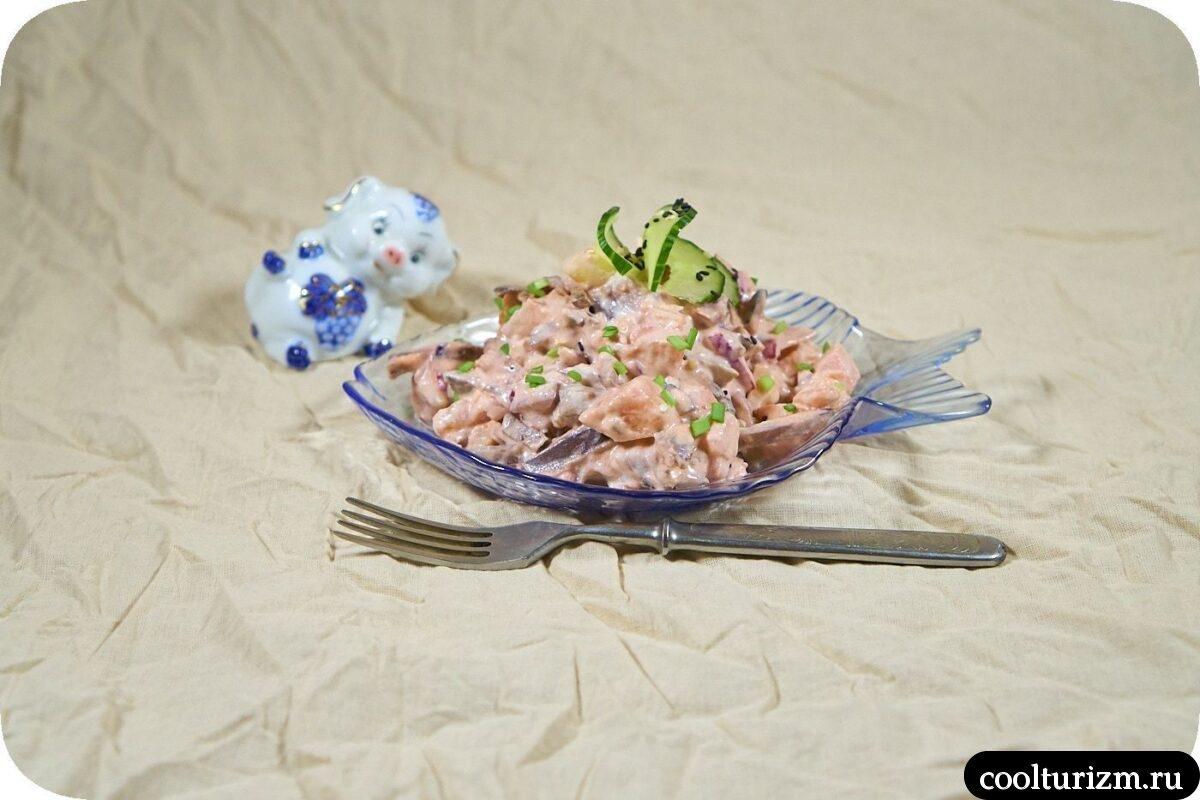 норвежский салат со свеклой и селедкой
