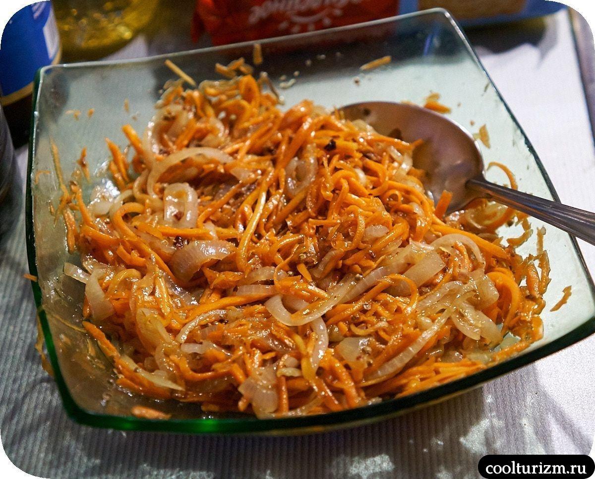 рецепт салата с ветчиной и капустой морковь корейская