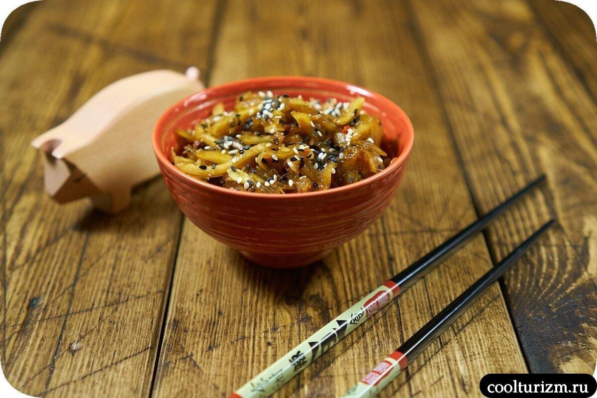 быстрая закуска из кабачков в корейском стиле как приготовить