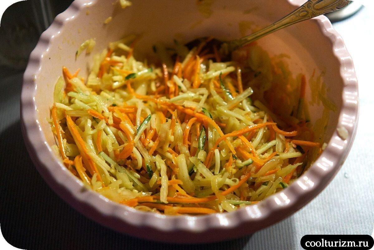 как приготовить салат свежая капуста морковь огурец