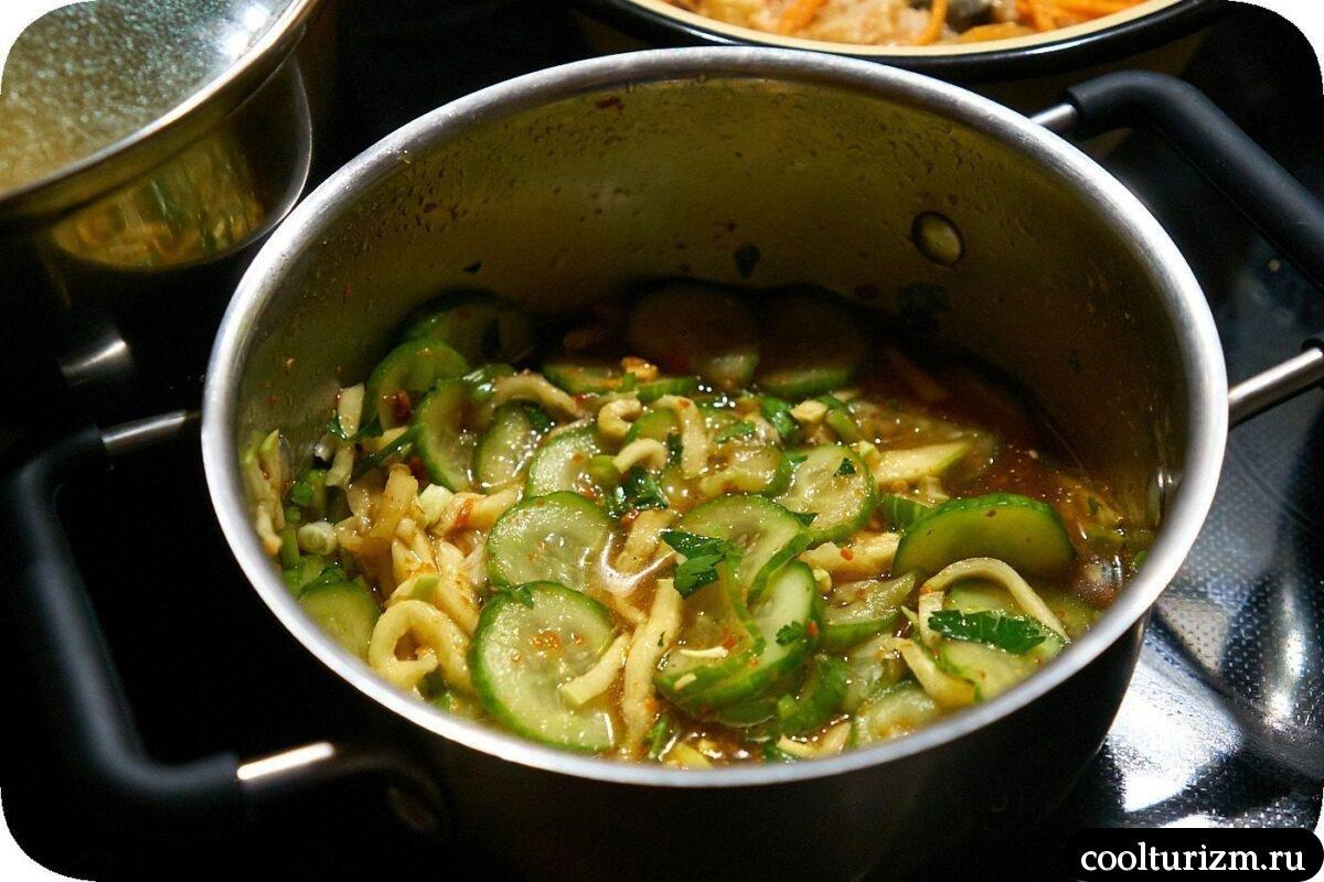 салат огурцы кабачки в корейском стиле как приготовить