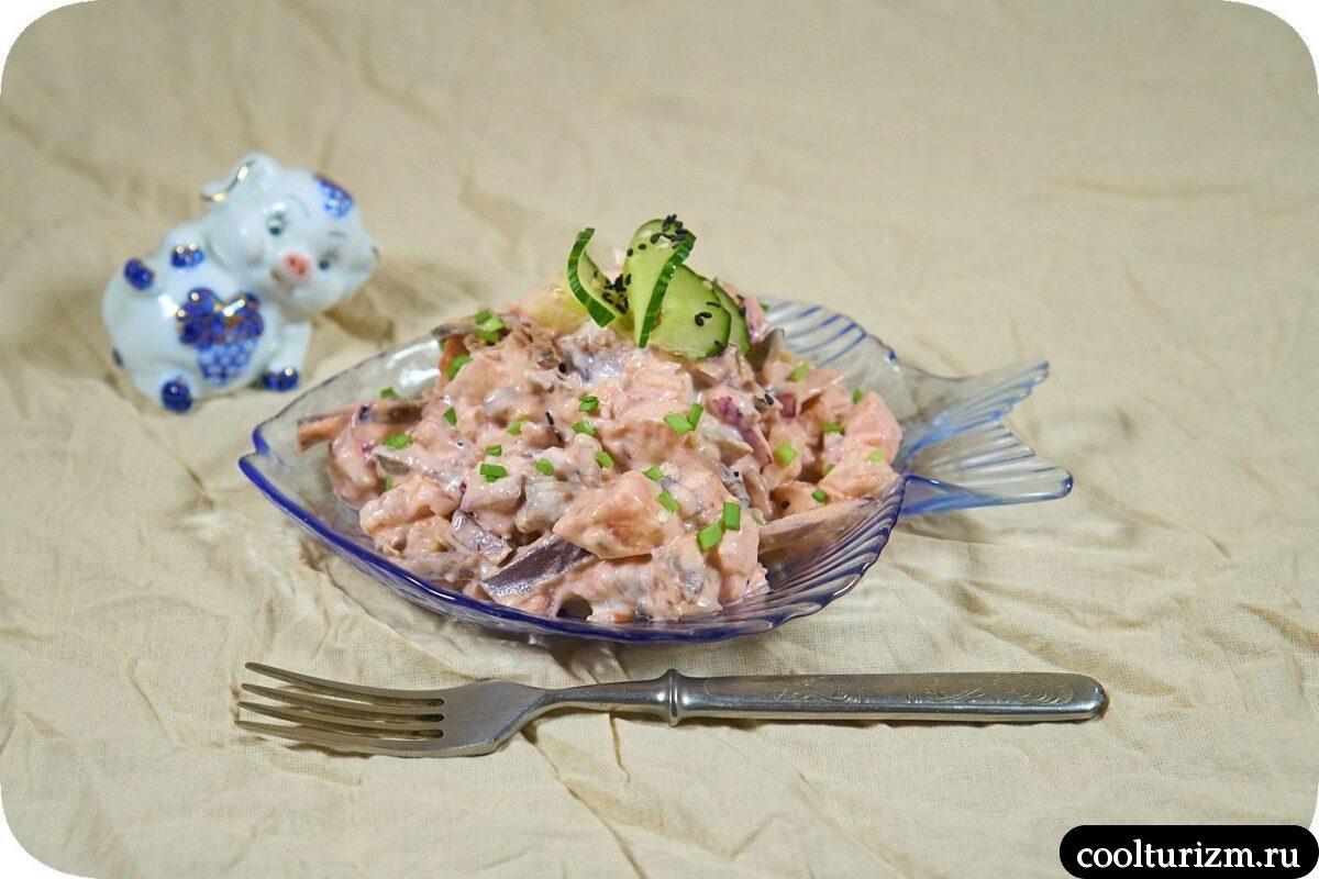 финский салат со свеклой и селедкой