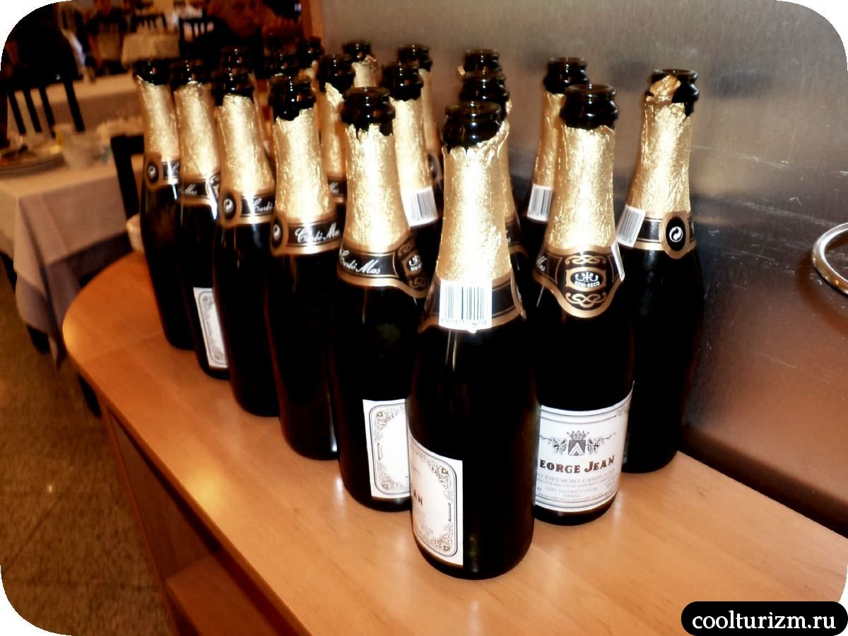 шампанское в отелях Испании утром