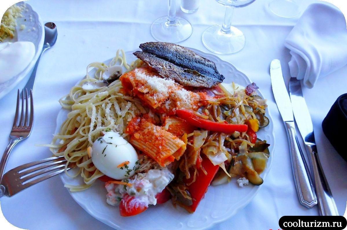 Еда в отеле Европа Плайя Марина 4* полупансион