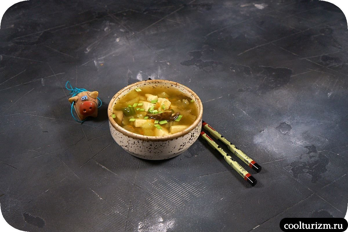 Суп с тофу рецепт с мисо-пастой