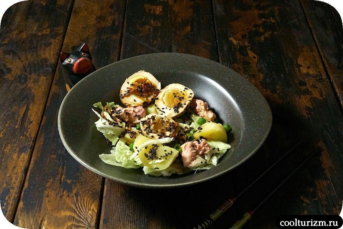 салат с тунцом без майонеза рецепт