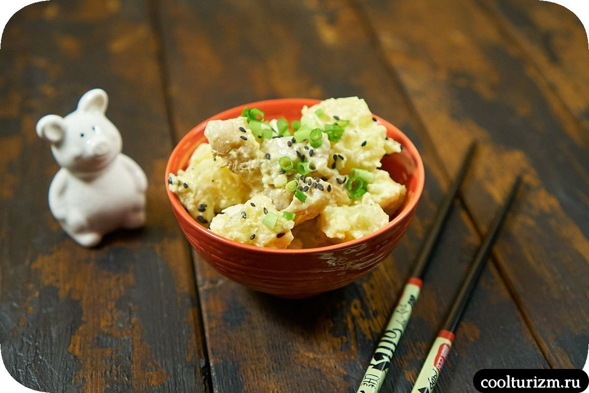 Рецепт салата с картошкой и беконом