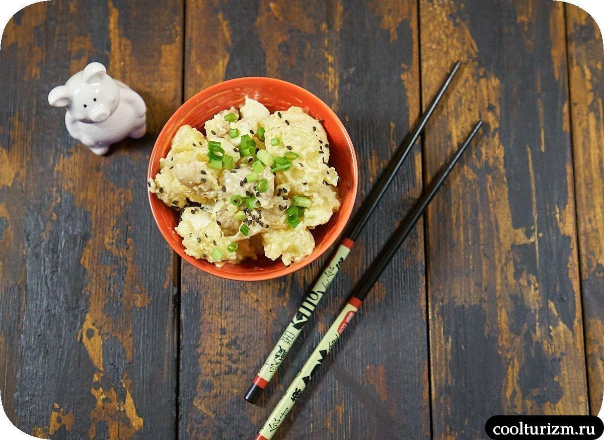 Рецепт салата с картошкой и беконом пошагово