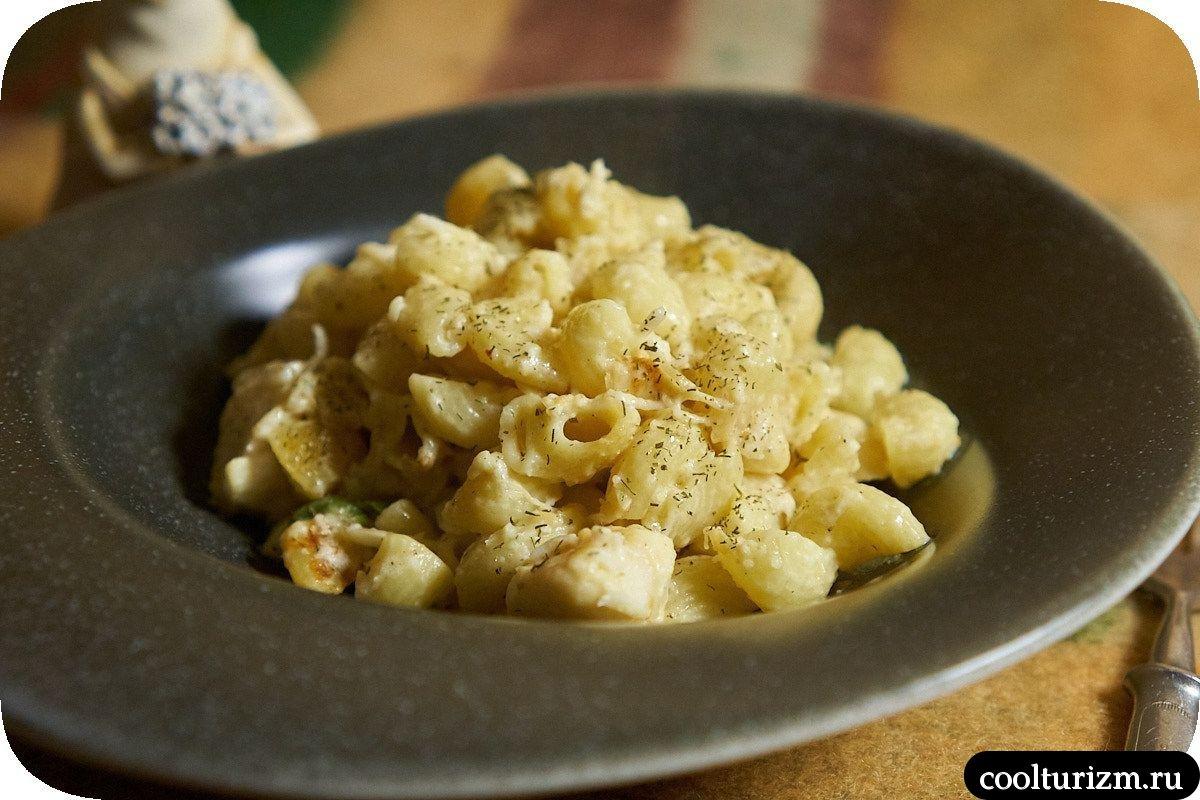 Щечки трески с макаронами рецепт
