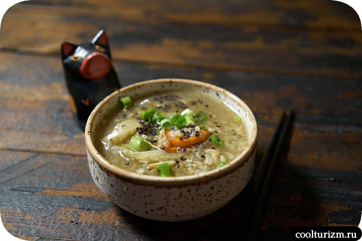 Суп из зеленой гречки