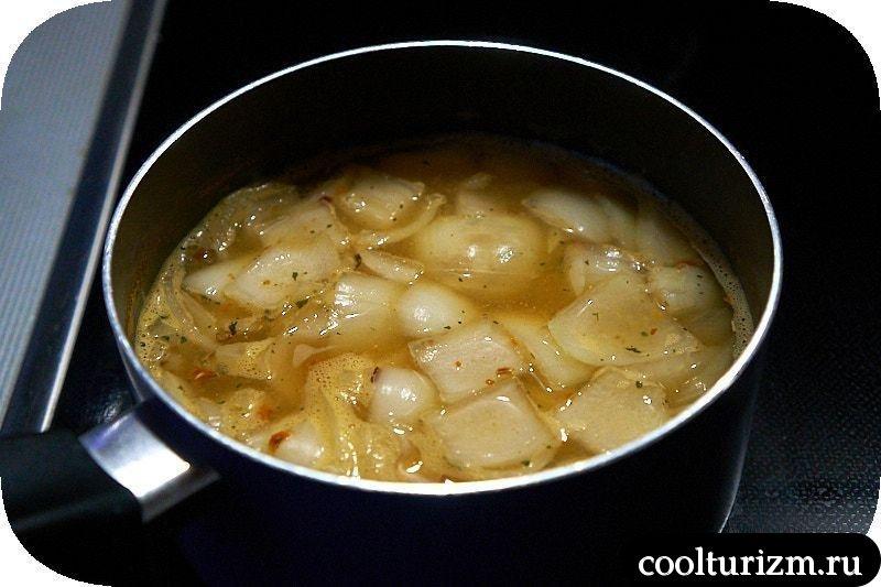 Суп с пекинской капустой и луком рецепт
