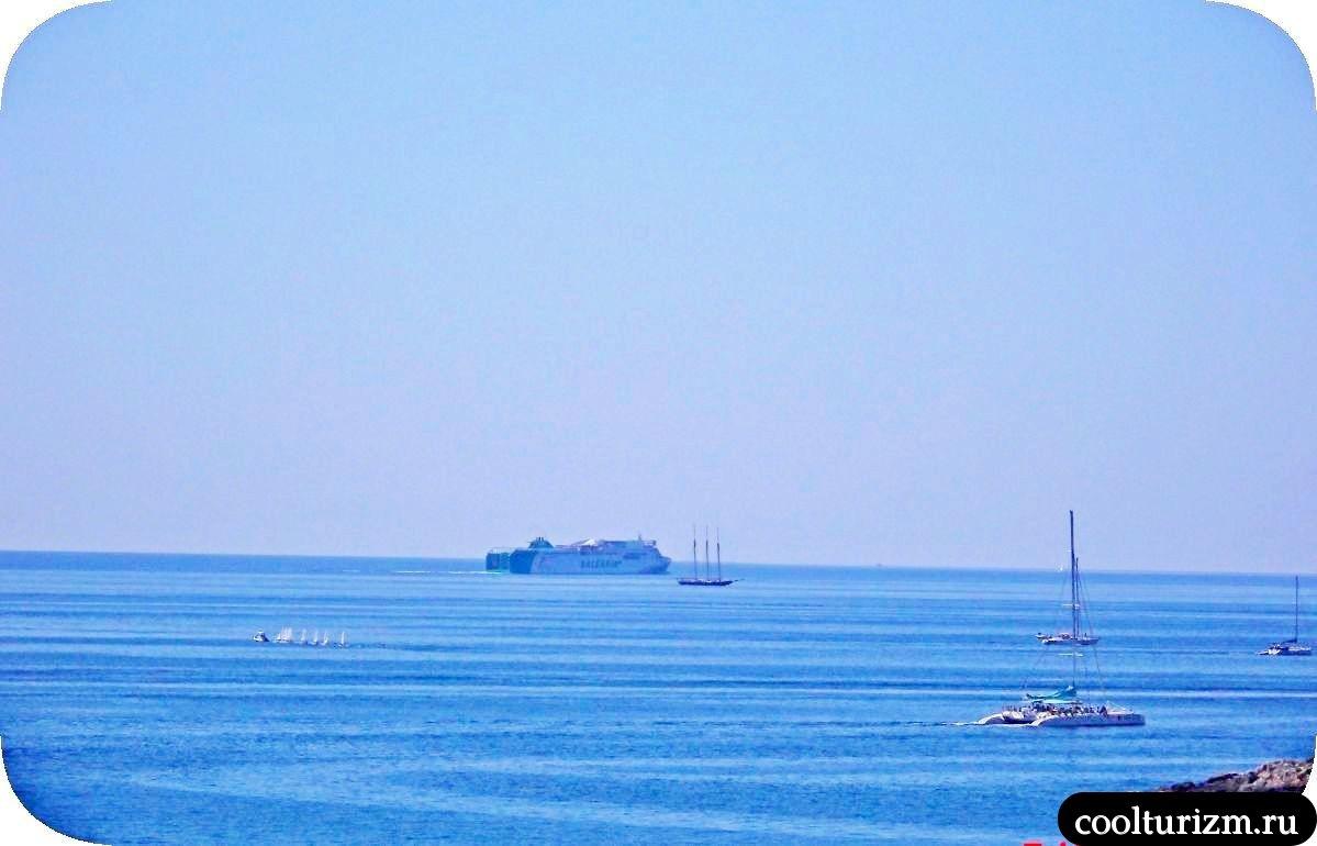 Виды на море остров Майорка яхты