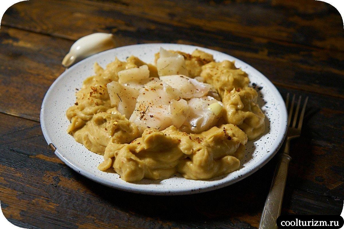 Рецепт хумуса с солеными щечками трески пошагово