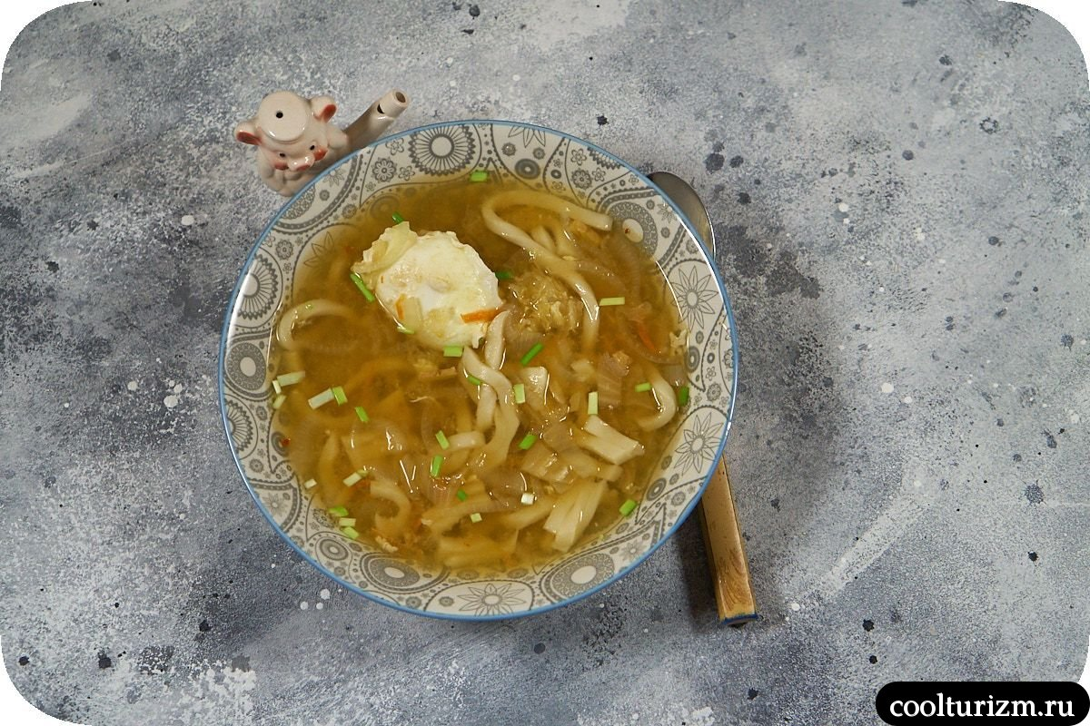 Суп кимчи с яйцом рецепт