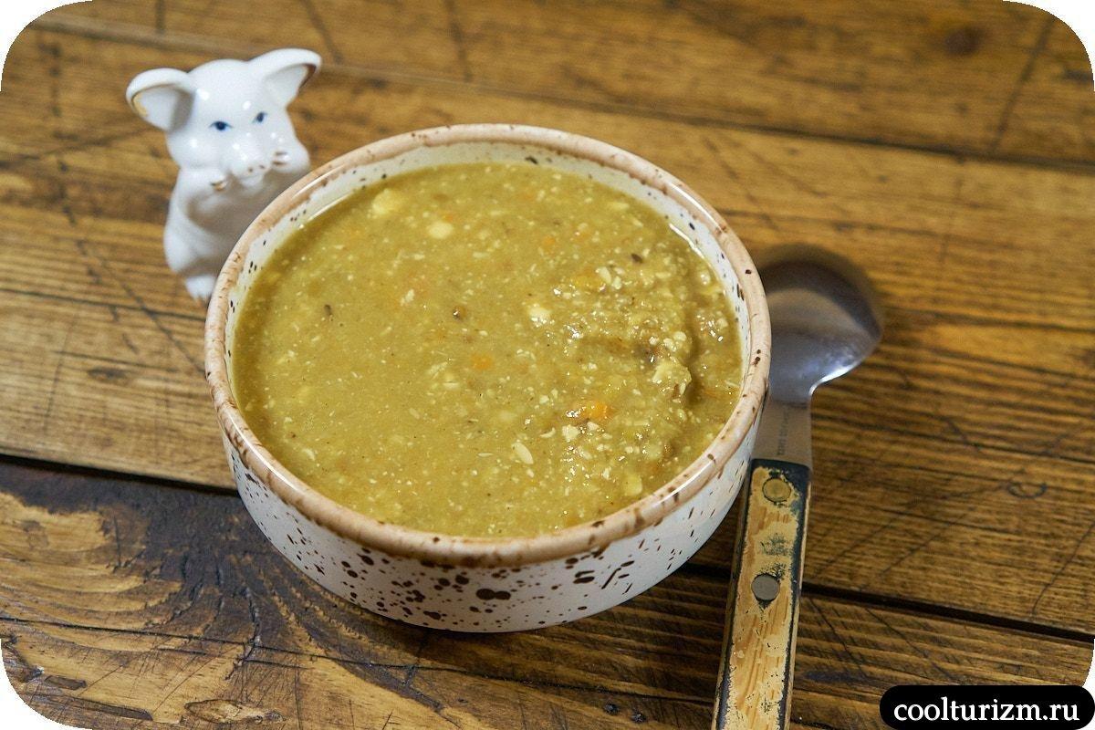 Суп пюре из зеленой чечевицы