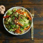 Салат с красной фасолью и болгарским перцем