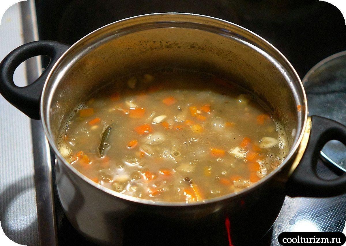 простой Суп пюре из зеленой чечевицы