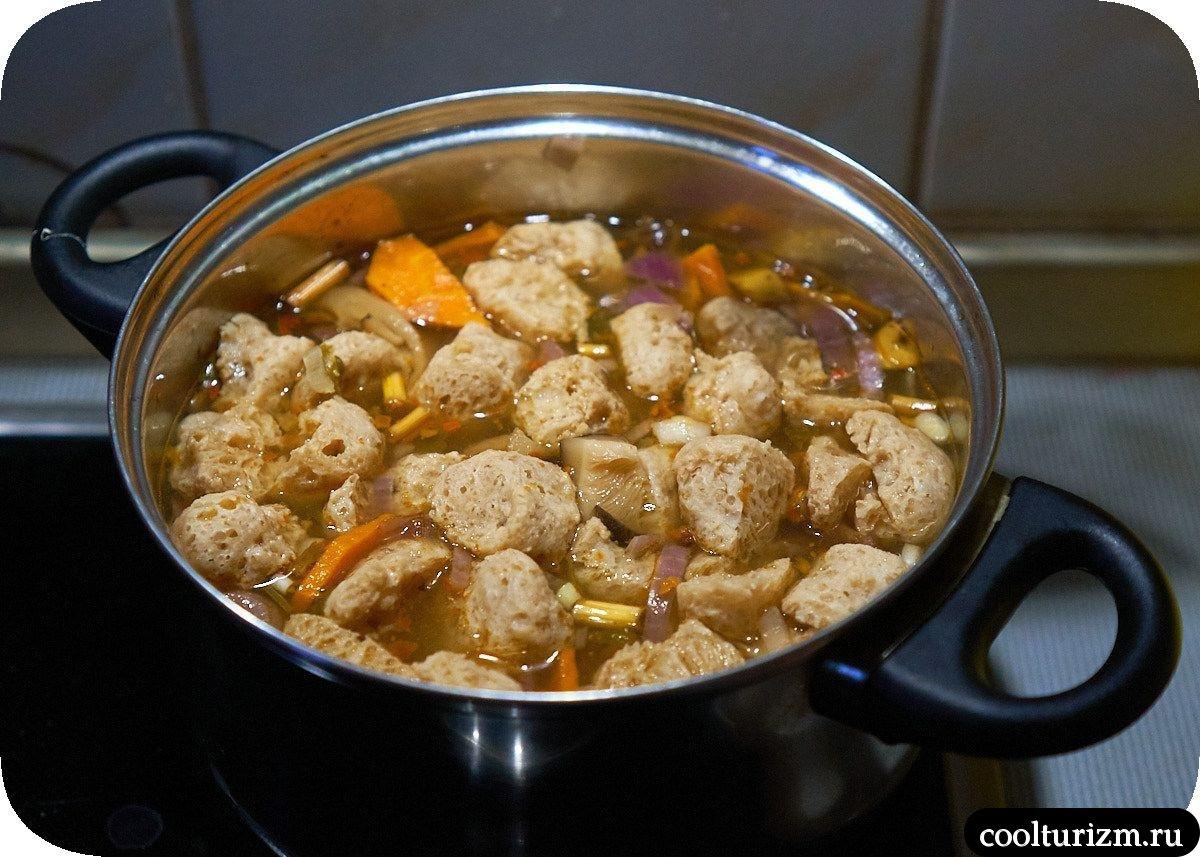 Тайский суп том ям с креветками в домашних условиях