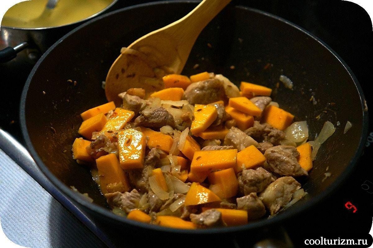 жарка овощей и мяса
