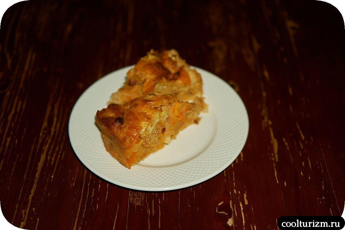Пирог с кимчи и соевым мясом