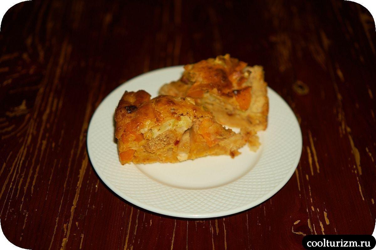 Пирог с кимчи и соевым мясом в домашних условиях