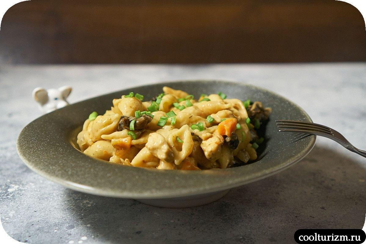 Ракушки в сливочном соусе рецепт фото