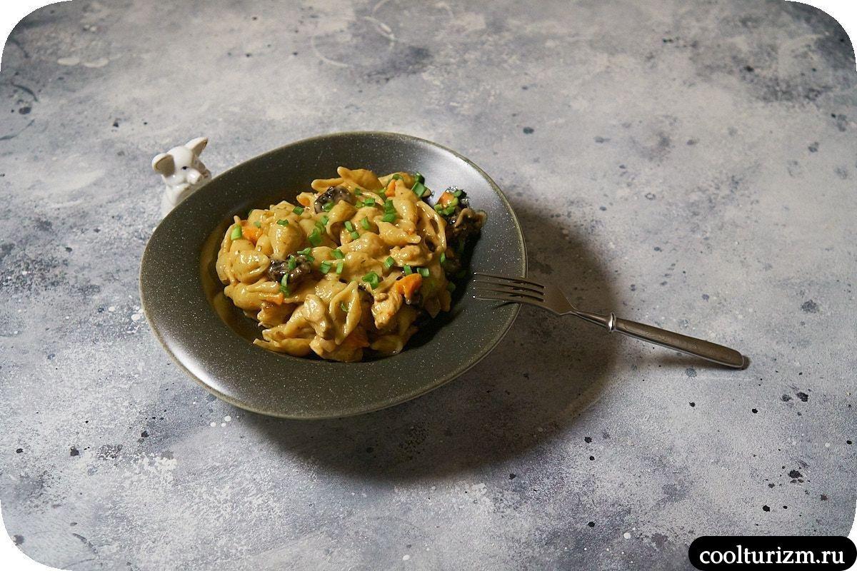 Ракушки в сливочном соусе рецепт