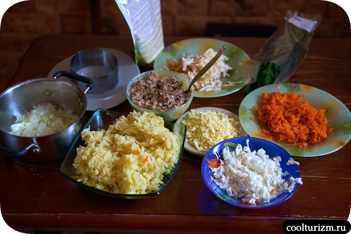 ингредиенты салата Мимоза