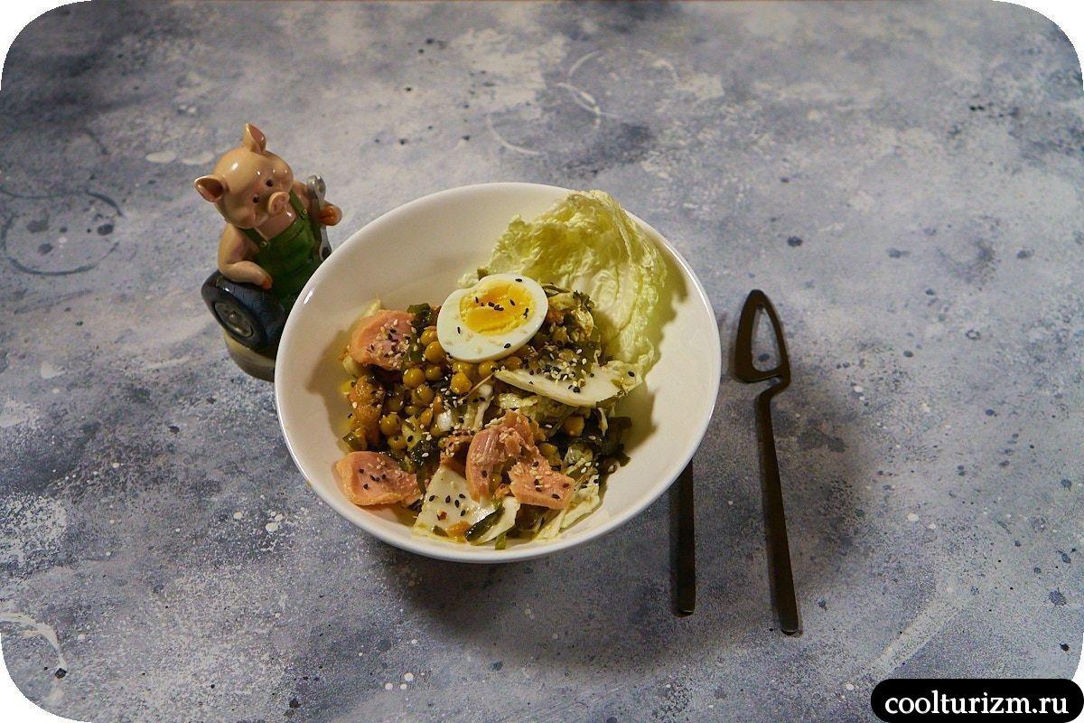 Салат с тунцом и нутом рецепт