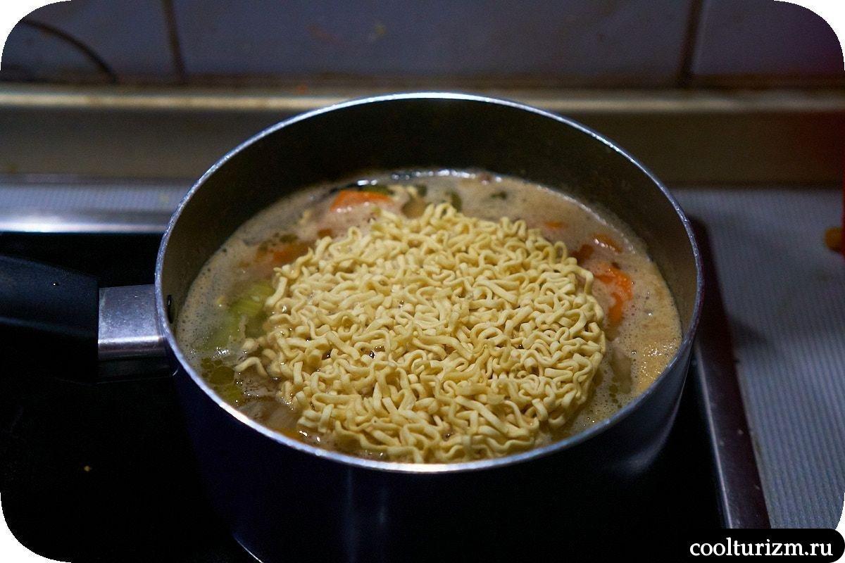 Суп с тофу и лапшой как приготовить