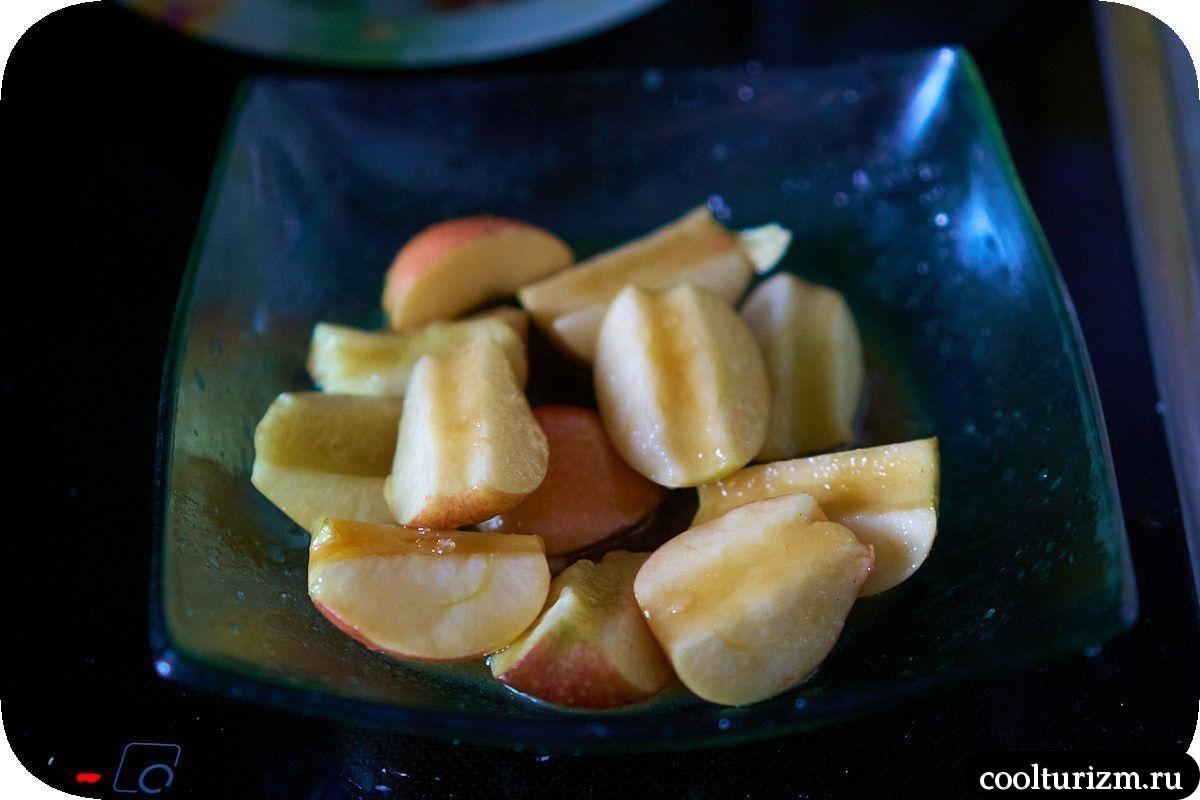 Яблочный хумус с палтусом как приготовить