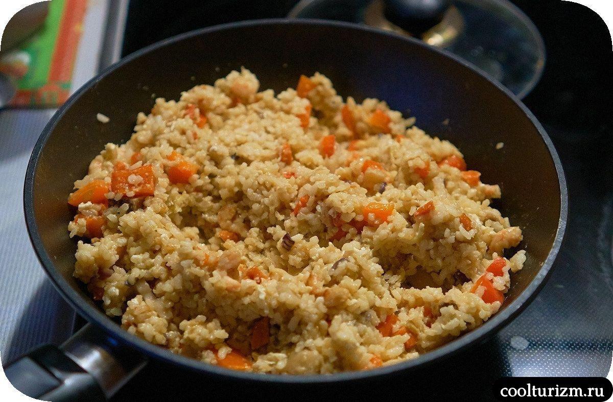 Рис с креветками и овощами рецепт