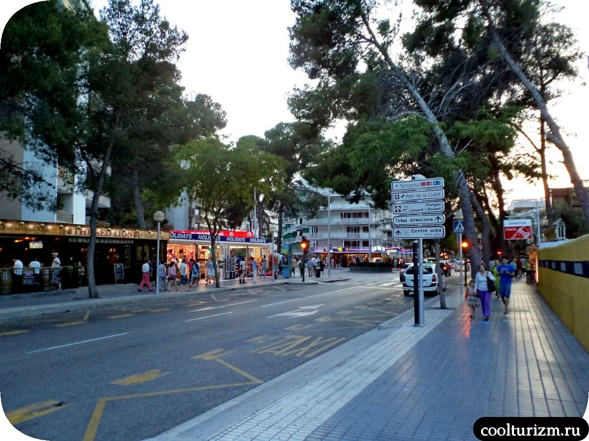 Улицы Салоу Испания лето