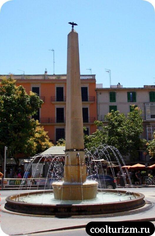 Пальма де Майорка фонтан черепашек