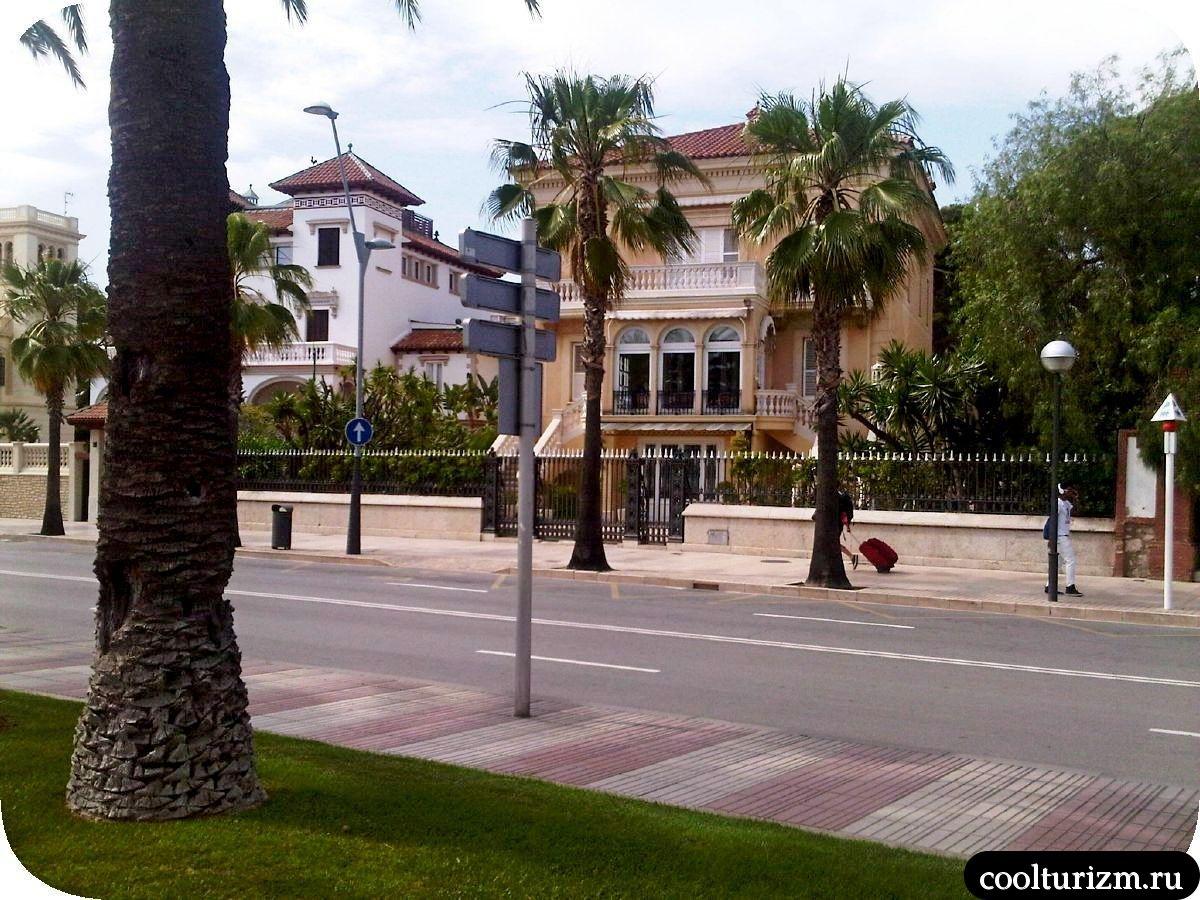 Улицы Салоу Испания красивые дома