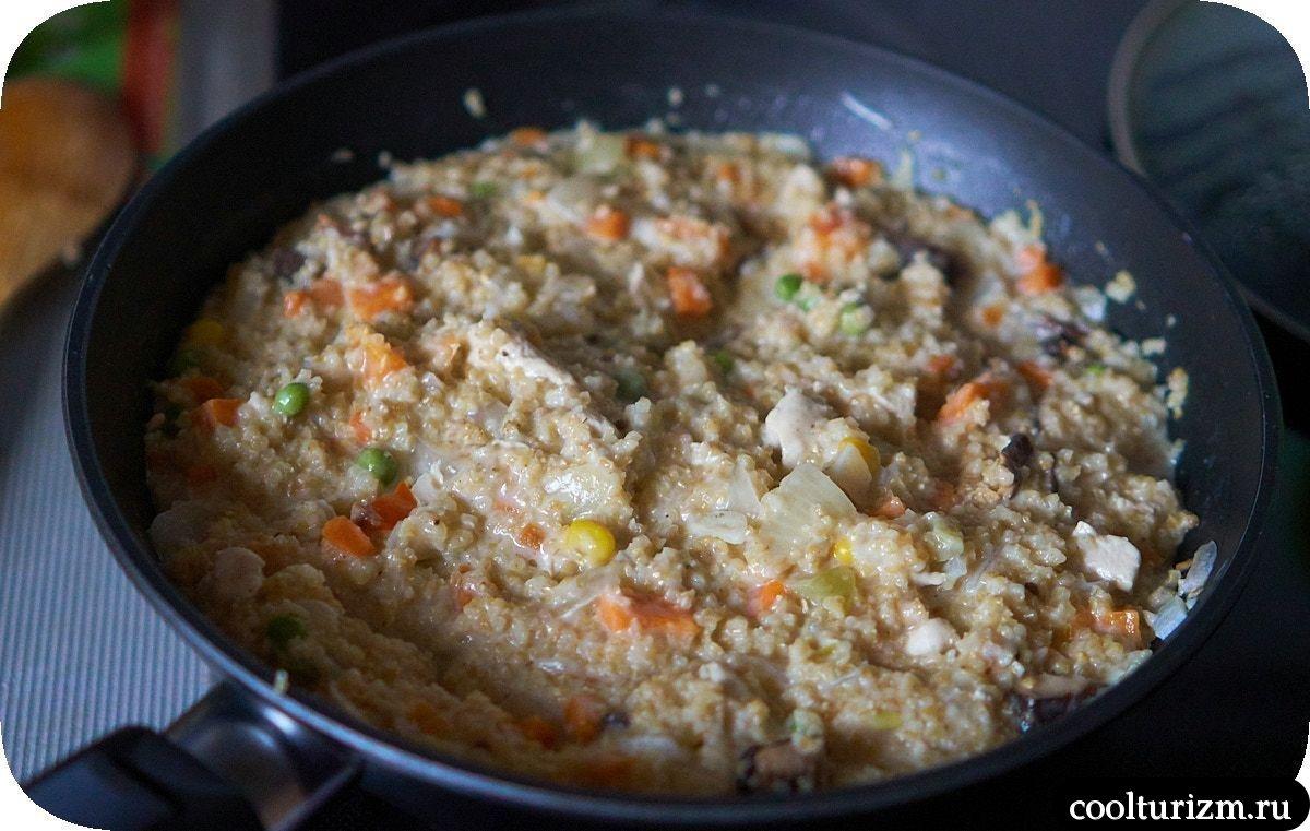 Пшеничная крупа с куриной грудкой рецепт