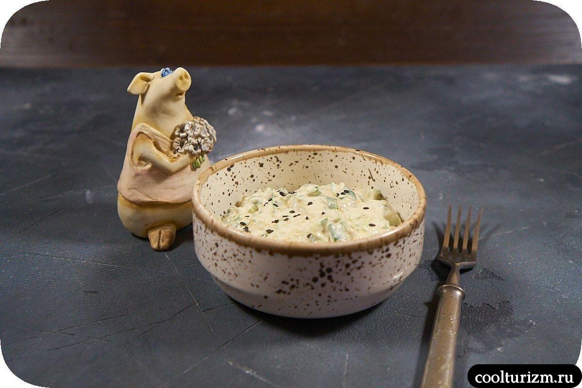 Рецепт салата с зеленым луком