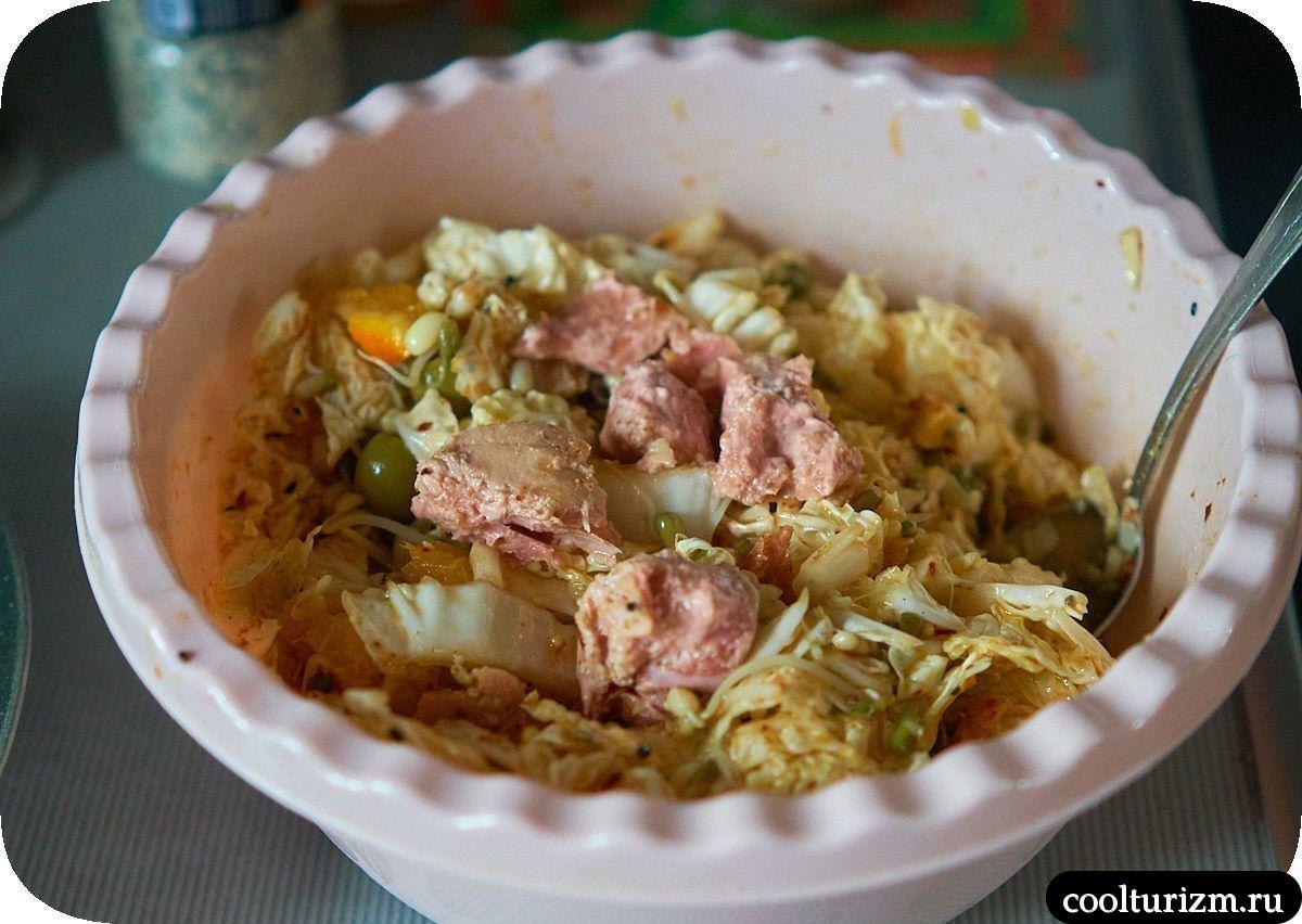 Салат с тунцом и оливками как приготовить