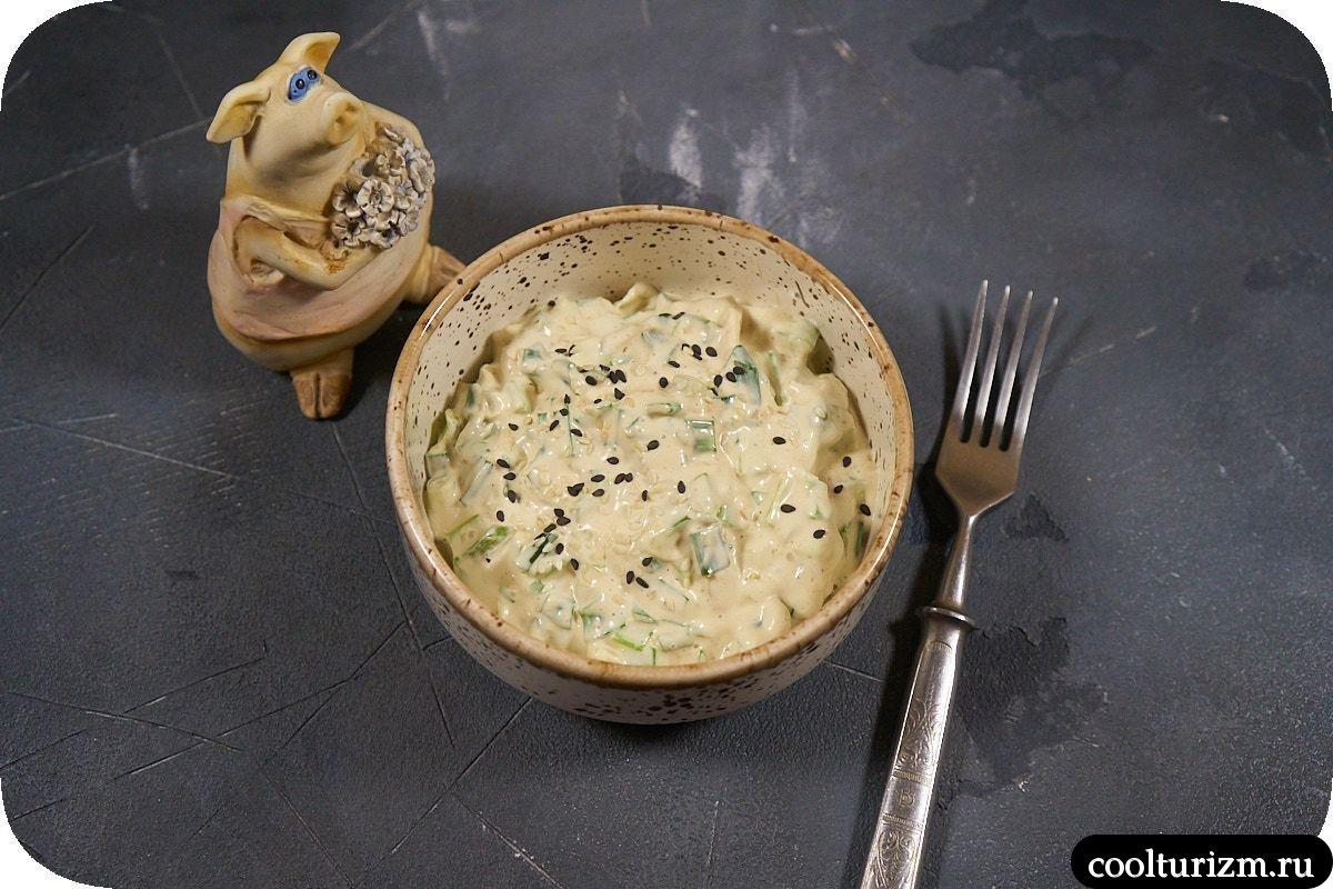 Рецепт салата с зеленым луком фото