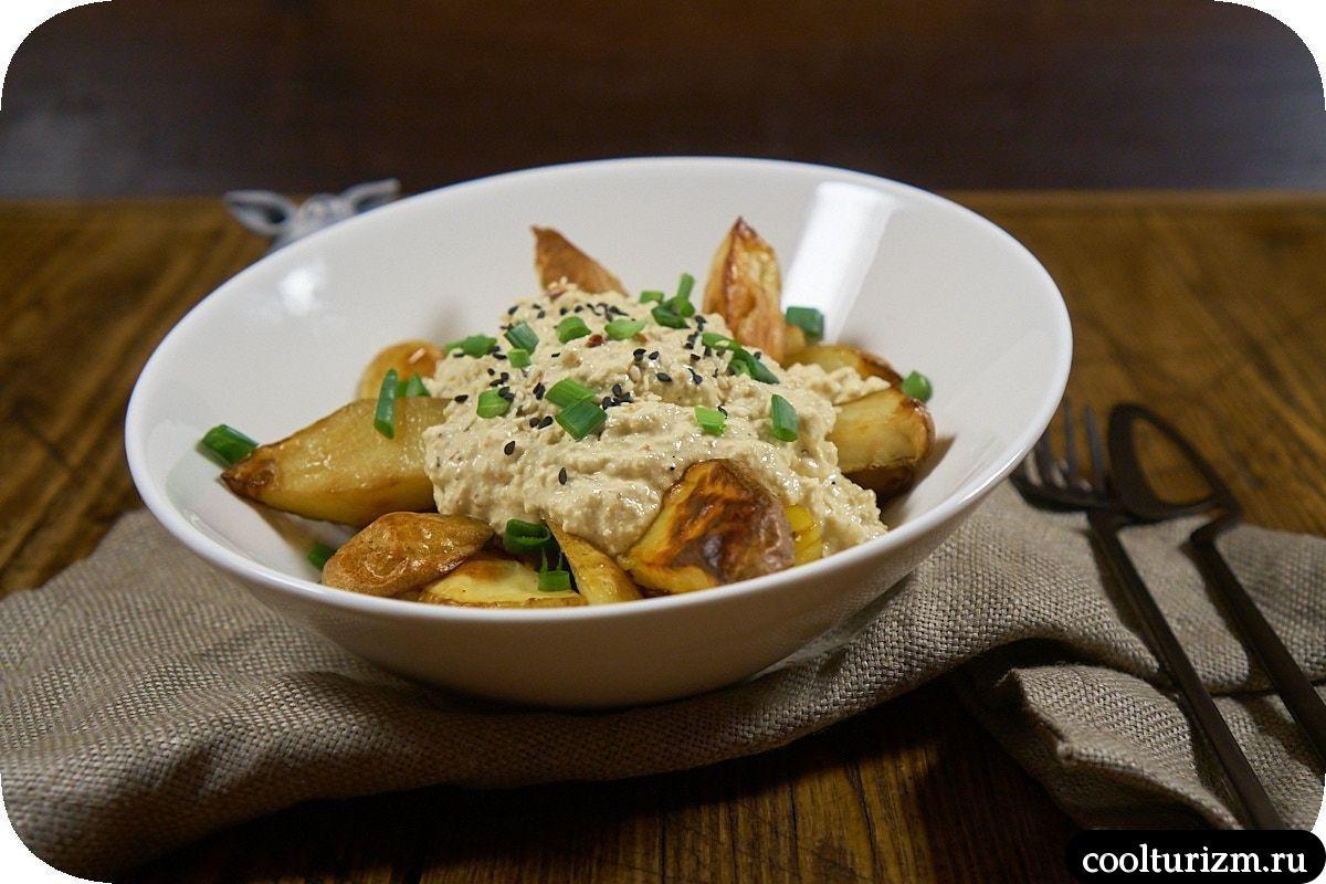 Картофель с соусом из тофу фото